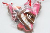 Имбирные валентинки в пакетике