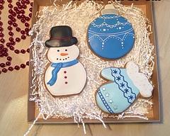 "Новогодний набор имбирных пряников ""Новогодний снеговик"""