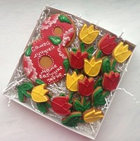 """Набор на 8 марта """"Цветочный"""" (8 + тюльпаны)"""